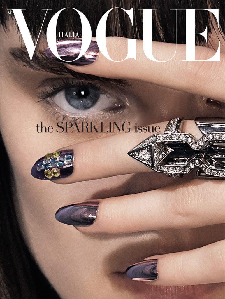 Vogue Italia Beauty Photo By Lucian Bor stylist Giulio Martinelli