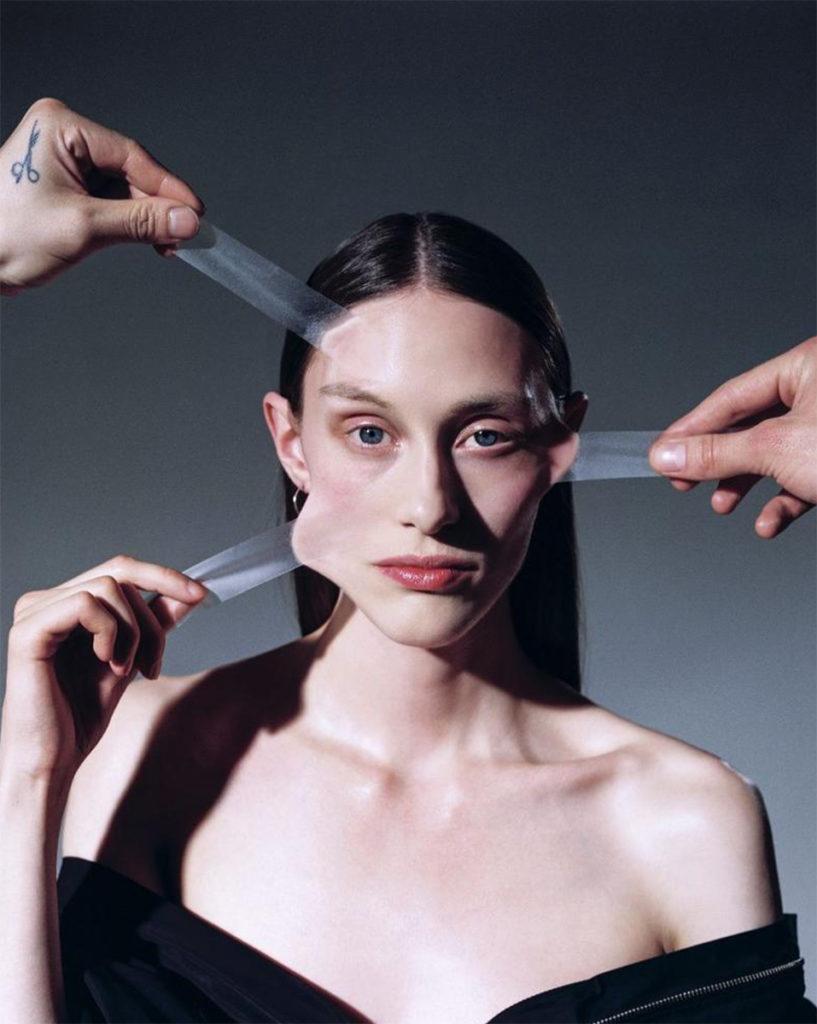 Material Magazine photographer Laura Marie Cieplik make-up Hugo Villard