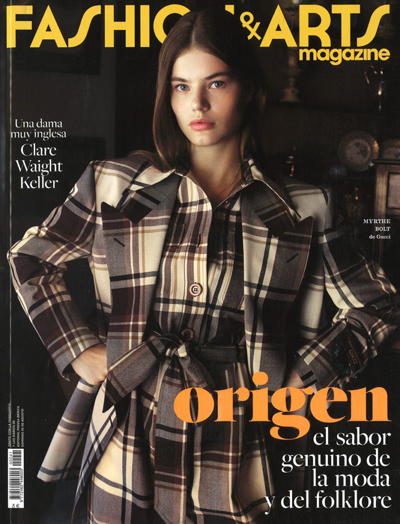 Fashion & arts Styling Enrique Campos august 2019 cover