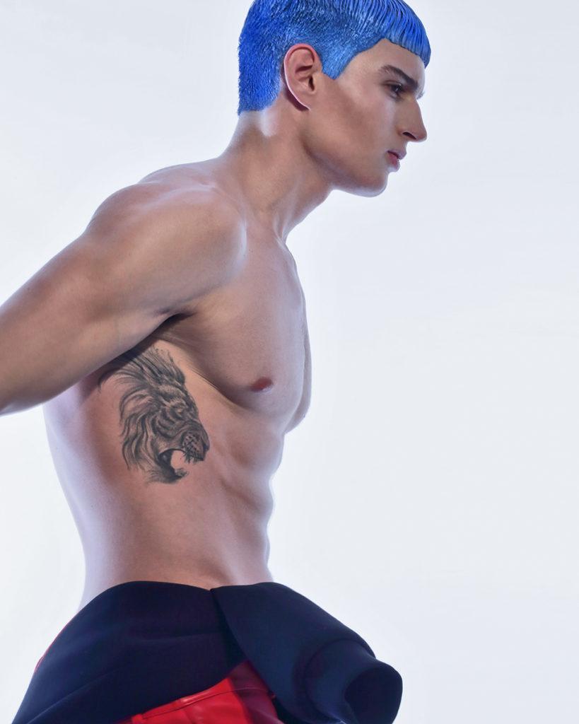 les hommes italia hair Stefano Gatti make-up Nicky Tavilla editorial men