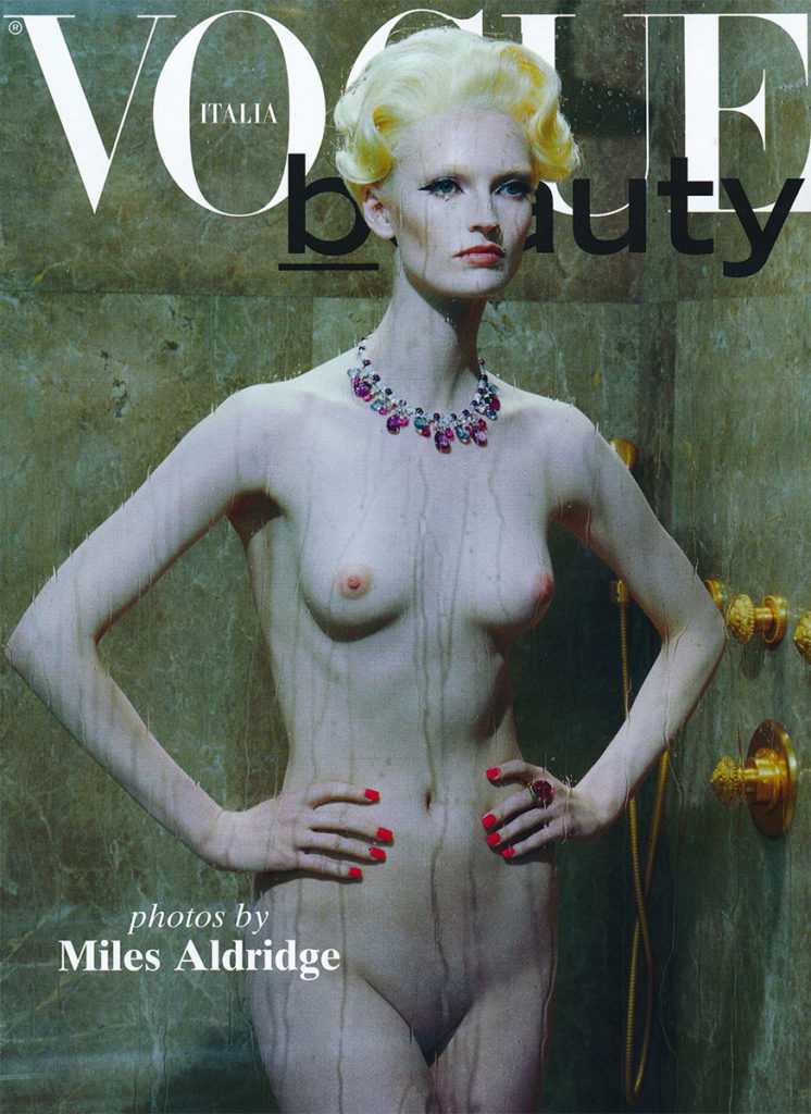 Vogue Italia cover Photo by Miles Aldridge manicure Carlotta Saettone