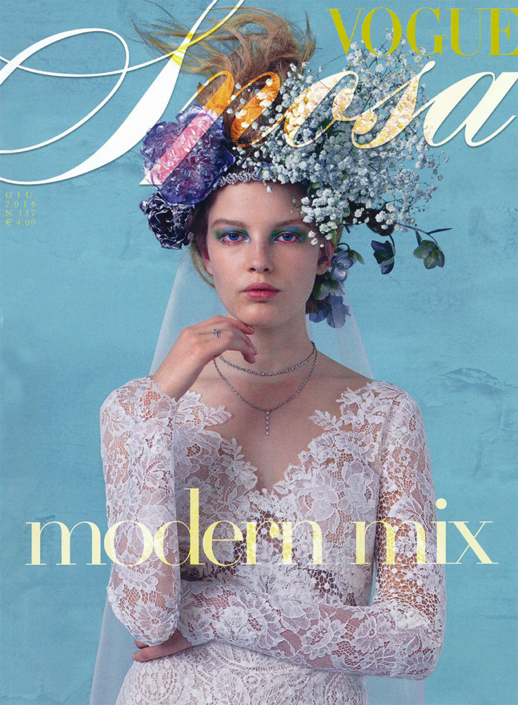 Vogue sposa cover Photo by Michael Baumgarten manicure Carlotta Saettone