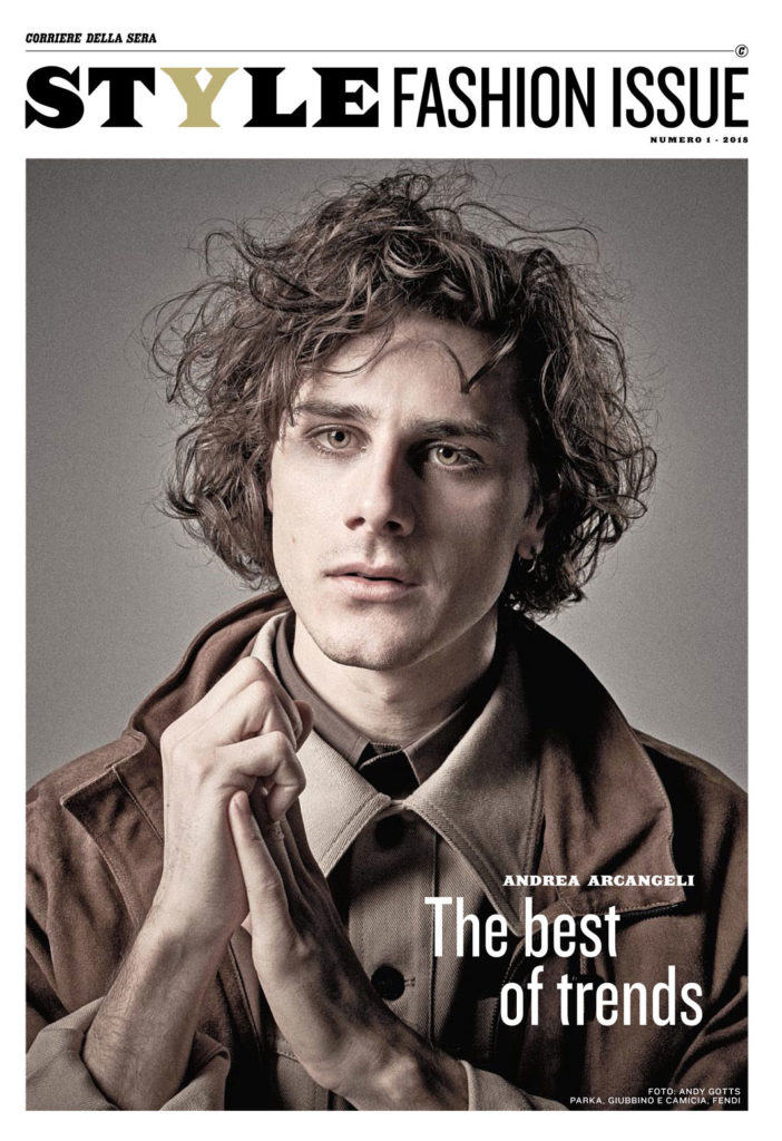 Style fashion issue hair Luca Lazzaro celebrities cover man