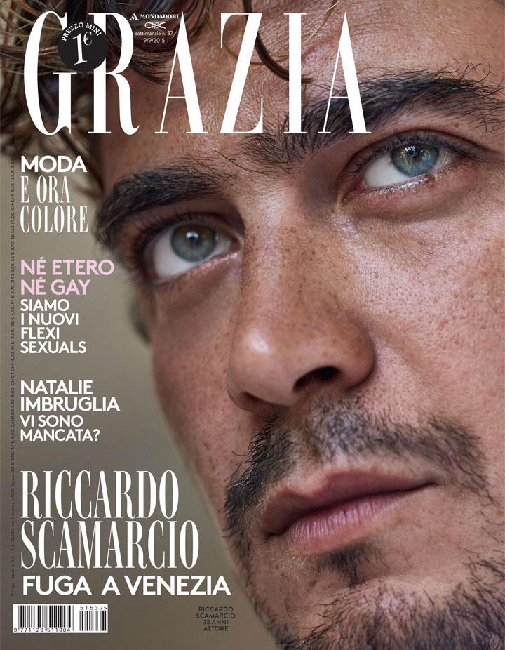 Grazia Italia Stylist Ildo Damiano cover Riccardo Scamarcio