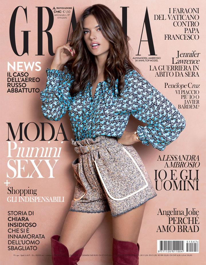 Grazia Italia Stylist Ildo Damiano cover Alessandra Ambrosio