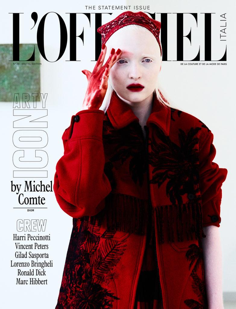 L'Officiel Italia Photo by Michel Comte stylist Giulio Martinelli cover