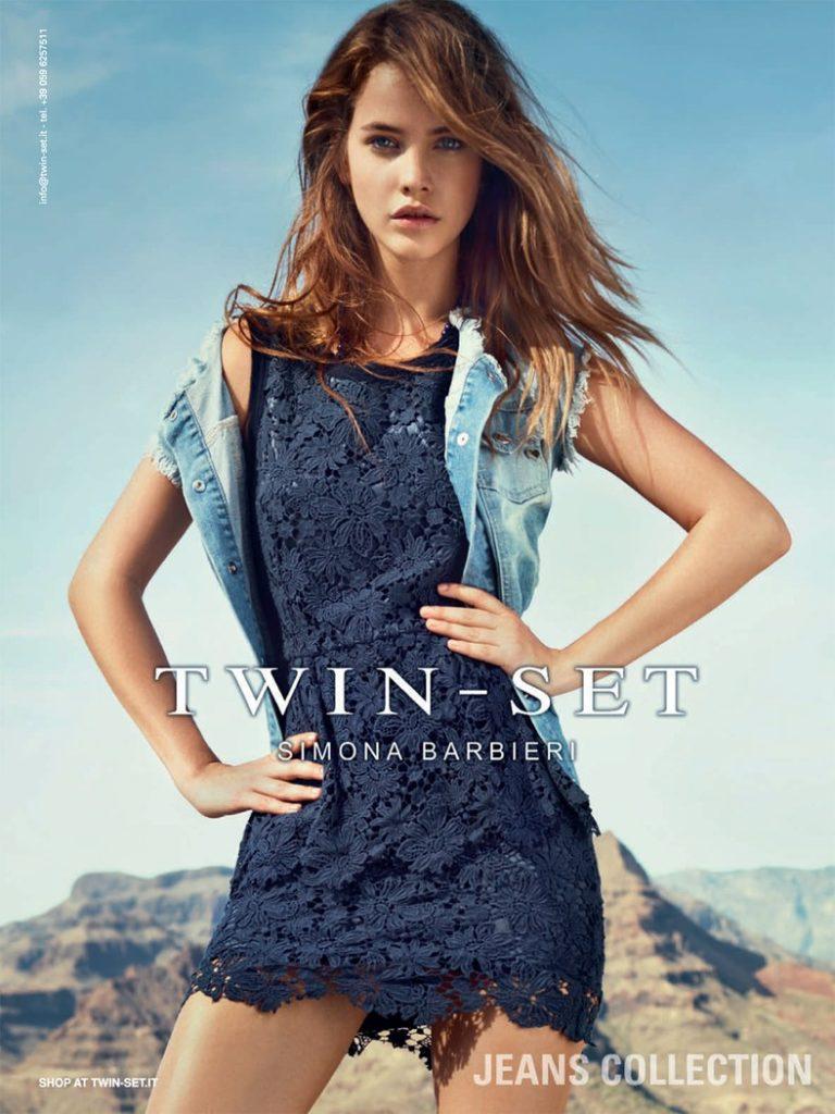 Twin Set jeans make-up Hugo Villard Barbara Palvin
