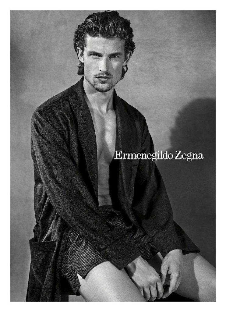 Ermenegildo Zegna underwear make-up Hugo Villard
