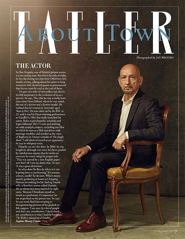 Ben Kingsley Tatler magazine  make up Nicky Tavilla