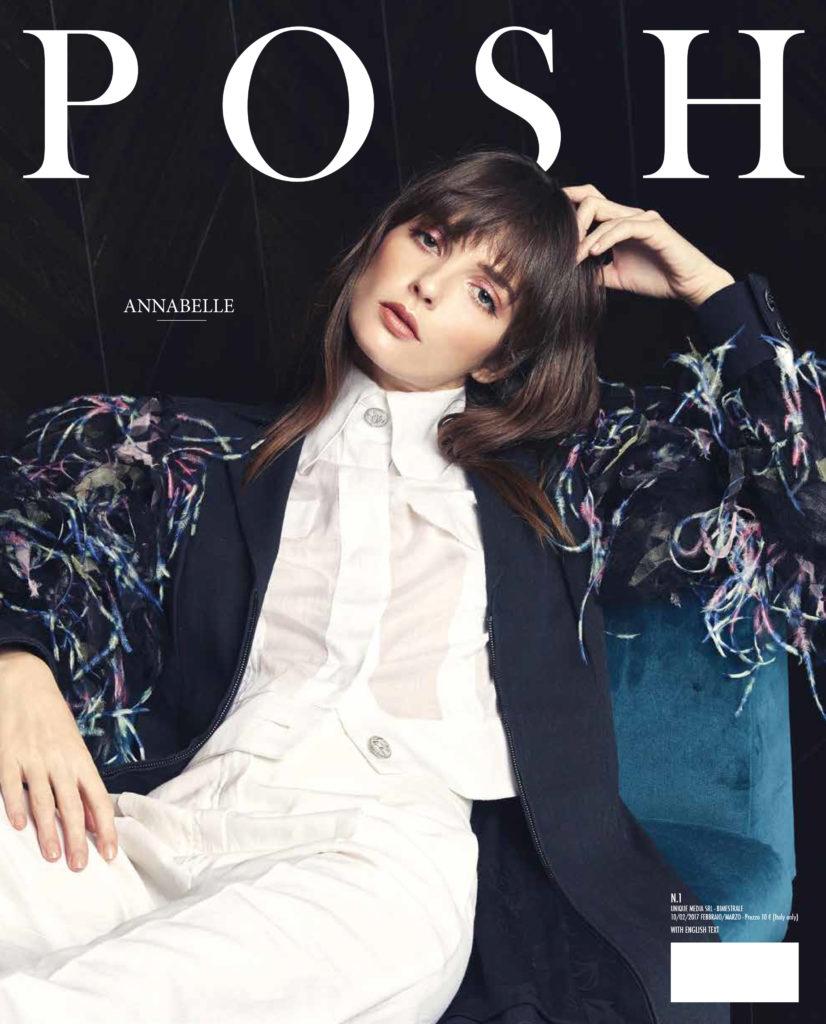 Posh magazine Annabelle Belmondo cover Photo by Federico Barbieri Hair Daniel Manzini