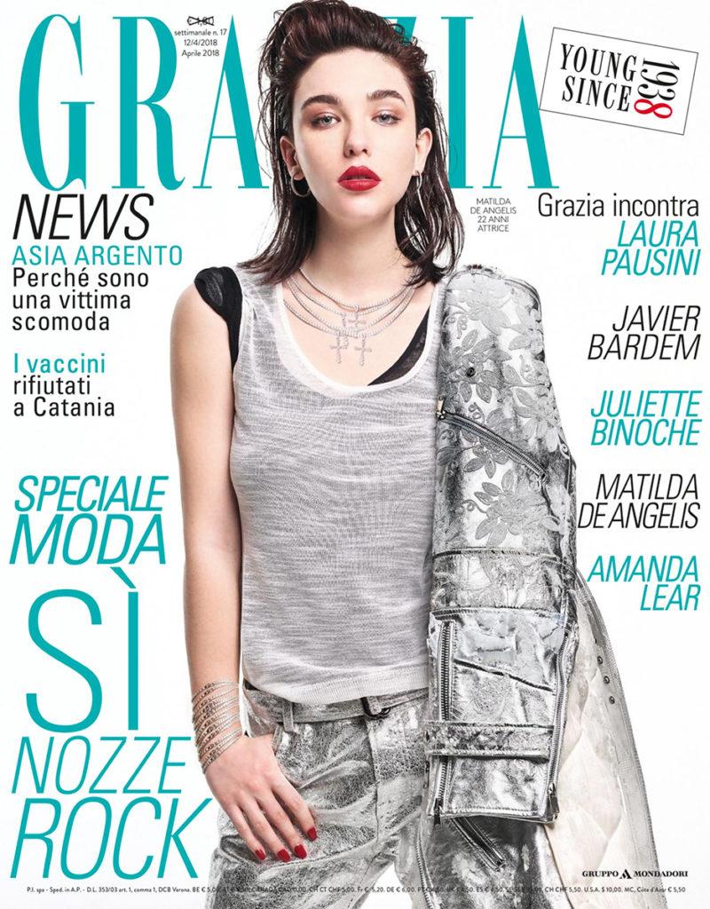 grazia cover manicure Annie Ghizzoni