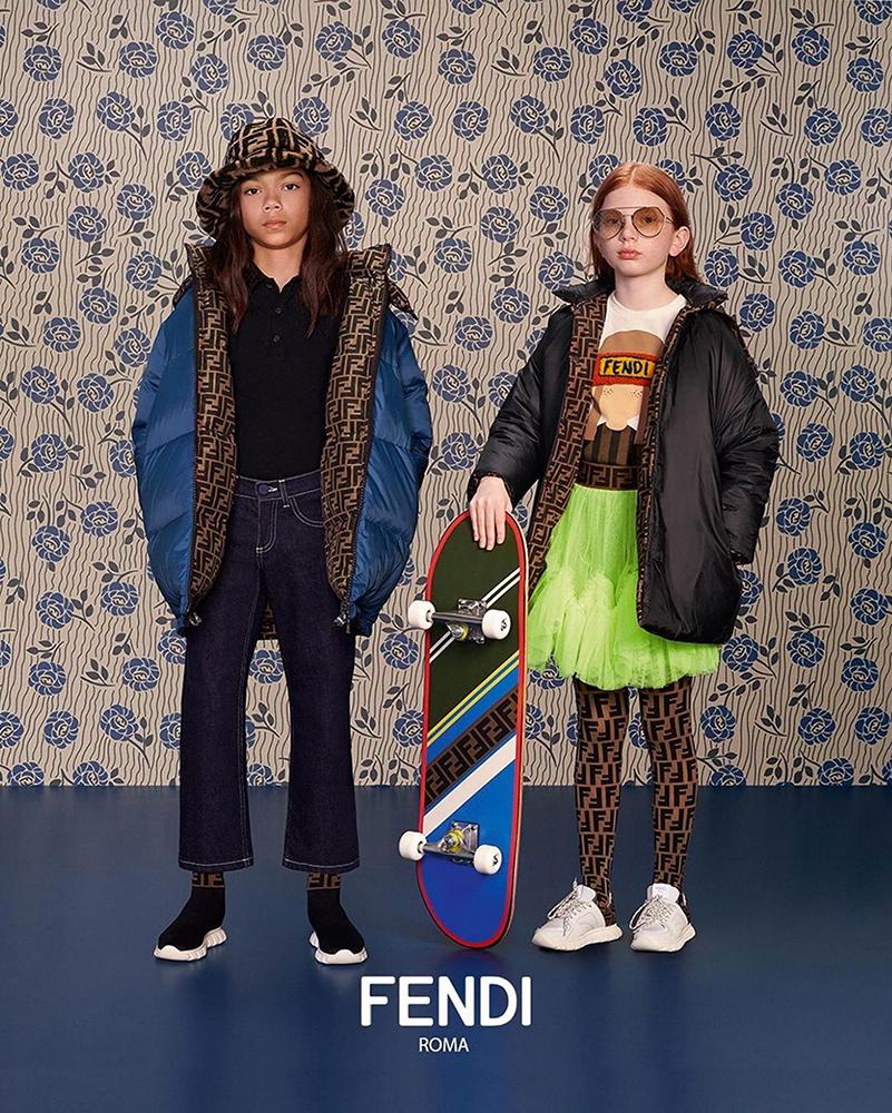 Fendi Kids fw19 hair Daniel Manzini