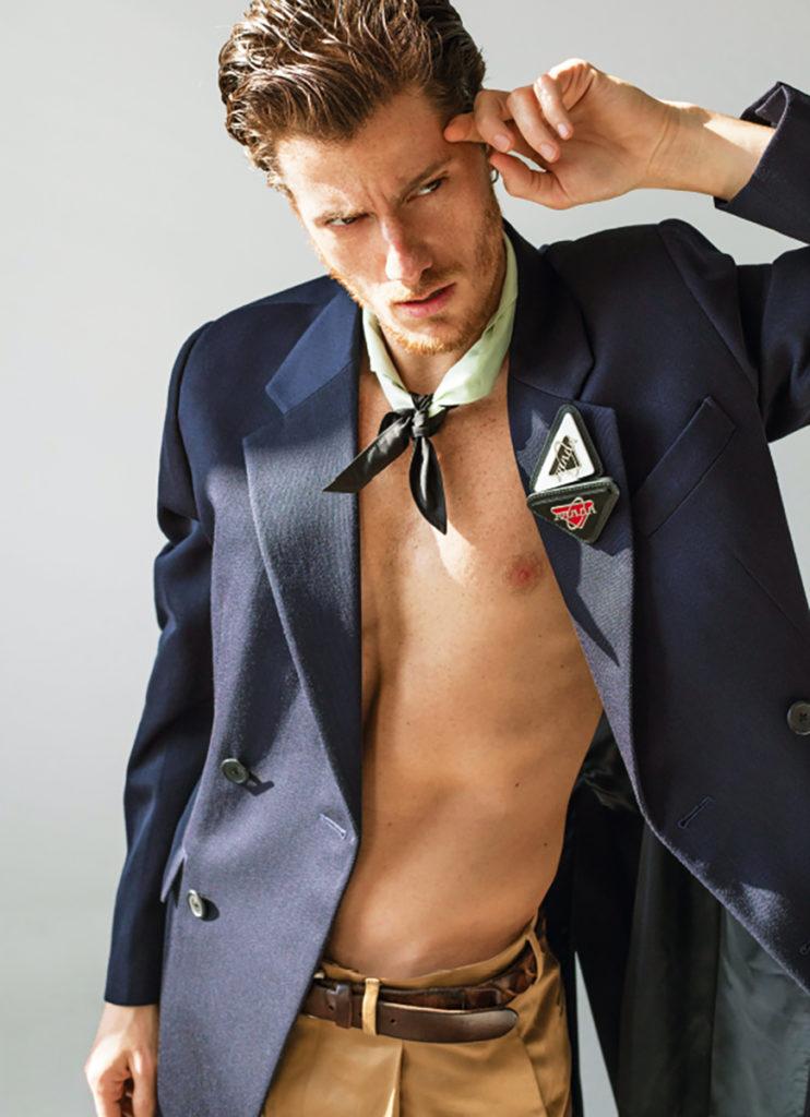 Style magazine - Photo by Toni Thorimbert actor Antonio Folletto grooming Daniel Manzini