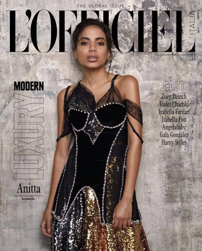 L'officiel Italia make-up Sissy Belloglio Anitta