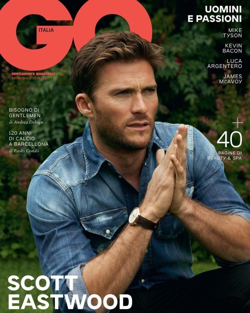 Gq italia make-up Roman Gasser Scott Eastwood