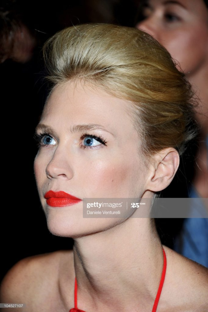 Versace front row make-up Silvana Belli January Jones