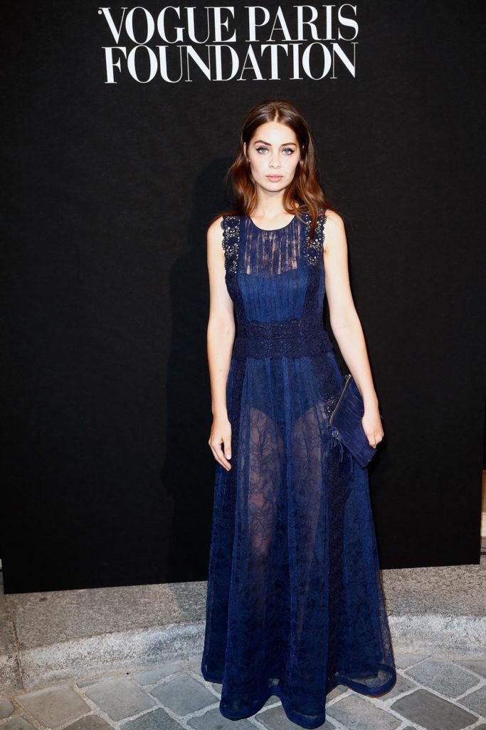 Marie Ange Casta - Vogue Paris Foundation Gala  At Palais Galliera In Paris - Make Up Giovanni Iovine