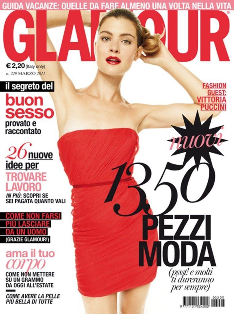 Vittoria Puccini - Glamour cover - Hair stylist Davide Diodovich