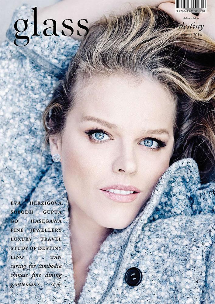 Glass magazine - Eva Herzigova - cover - photographer Marcin Tyszka - Hair stylist Federico Ghezzi