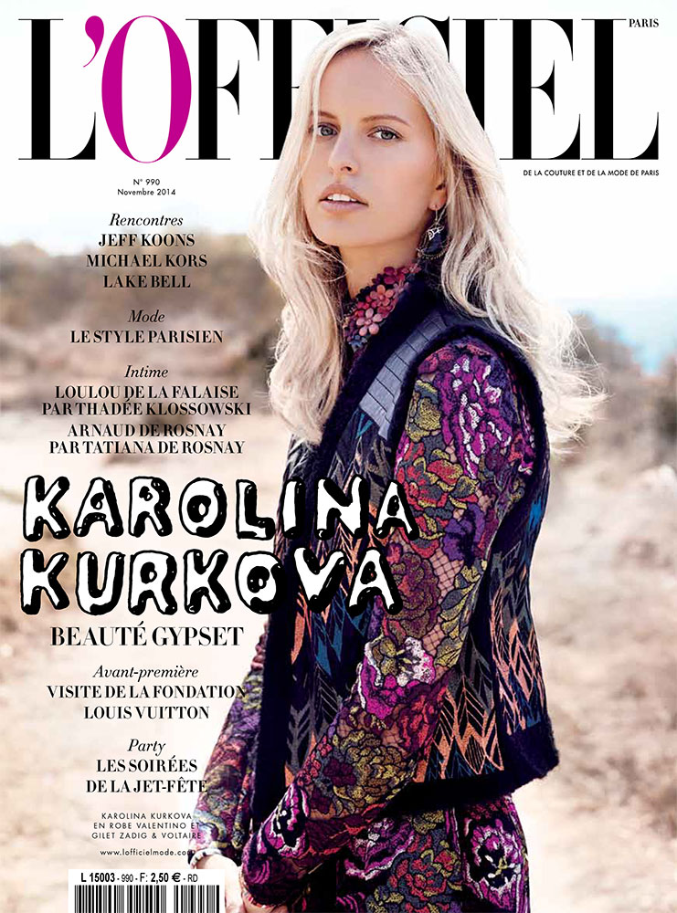 L'Officiel Paris - Karolina Kurkova -Photo by Marcin Tyszka - Hair stylist Federico Ghezzi