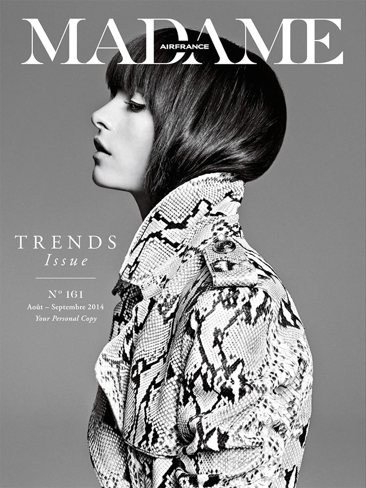 Madame France - cover - photographer Marcin Tyszka -  Hair stylist Federico Ghezzi