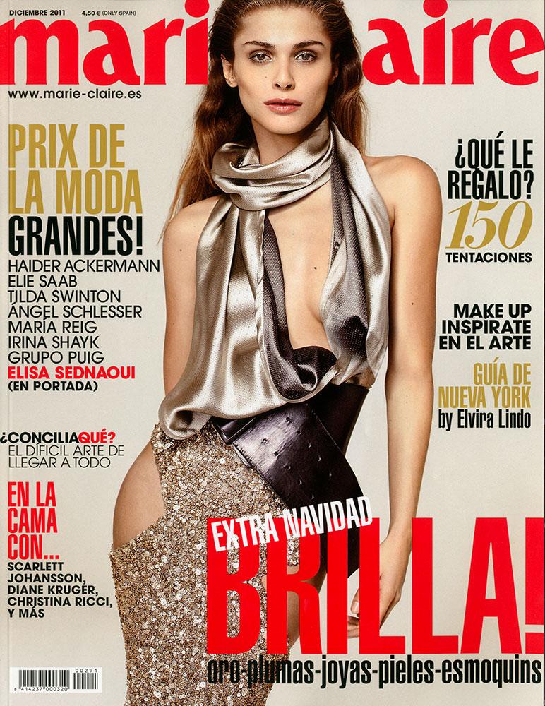 Marie Claire ES - Elisa Sednaoui - cover - photographer Sergi Pons - Hair stylist Federico Ghezzi