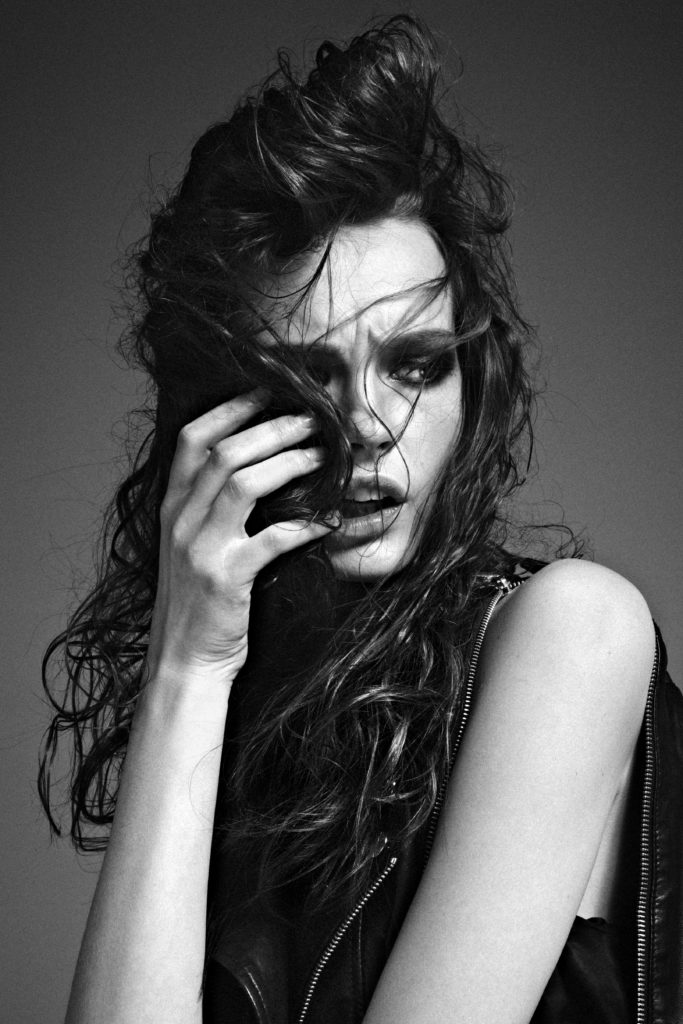 Mina - model - Photographer Fabio Leidi - Hair stylist Stefano Gatti -