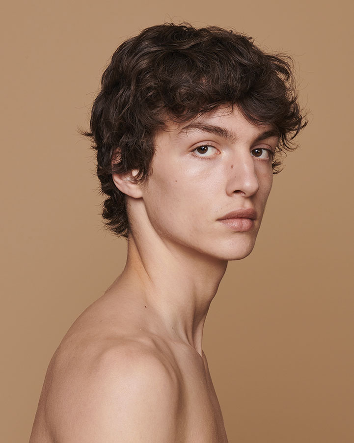 Hermes - Model Lucas El Bali  - hair Liv Holst