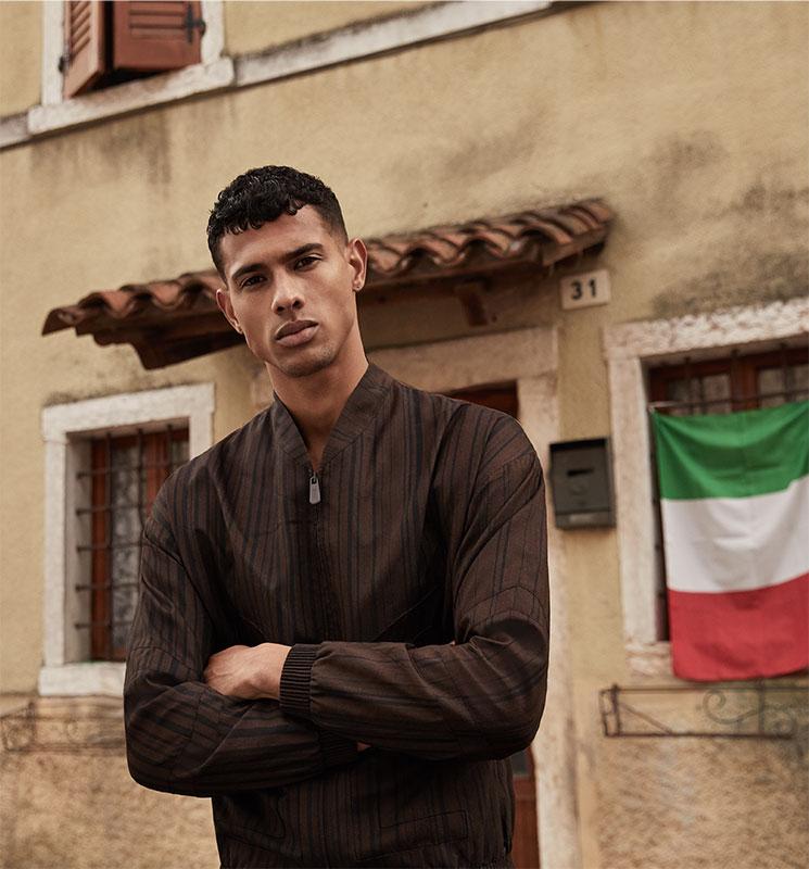 Icon - Photo by Jeremy Choc - hair Francesco Avolio Makeup Karin Borromeo- Zegna