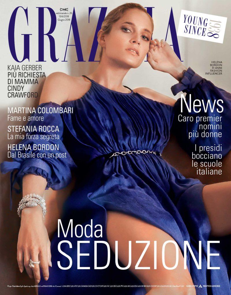 Grazia - cover - Helena Bordon - Hair stylist Stefano Gatti