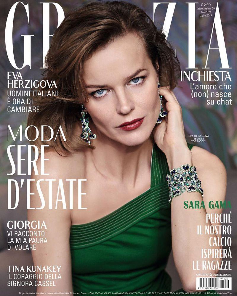 Grazia - Eva Herzigova - stylist Ildo Damiano