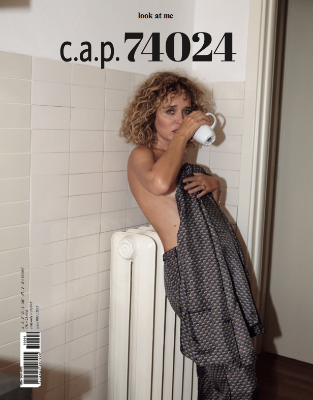 C.a.p. 74024 - Valeria Golino - cover - Hair stylist Stefano Gatti