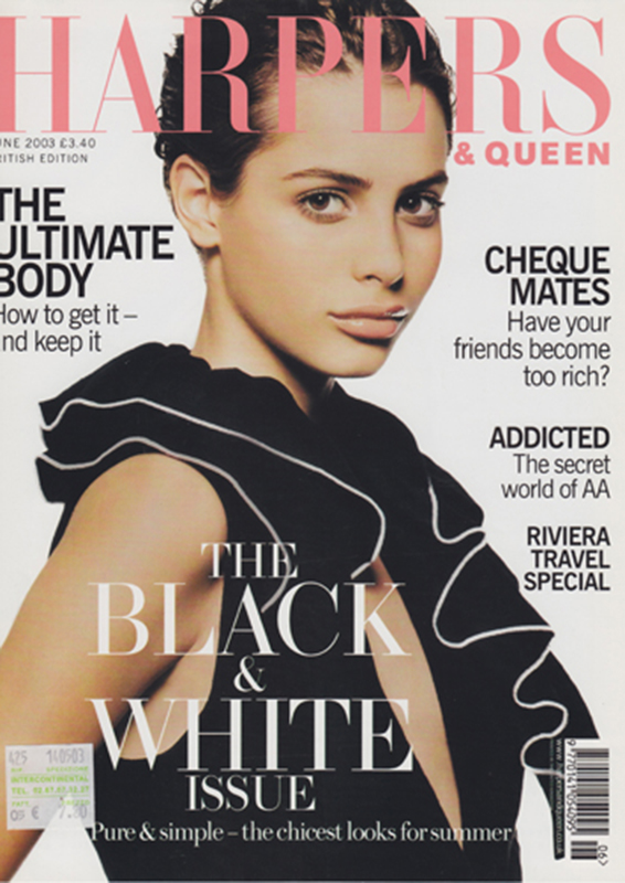 Harper's Bazaar- magazine - cover - Hair stylist Stefano Gatti