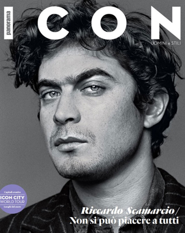 Icon - magazine - Riccardo Scamarcio - cover - Hair stylist Stefano Gatti