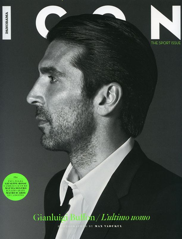 Icon - magazine - Gianluigi Buffon - cover - Hair stylist Stefano Gatti