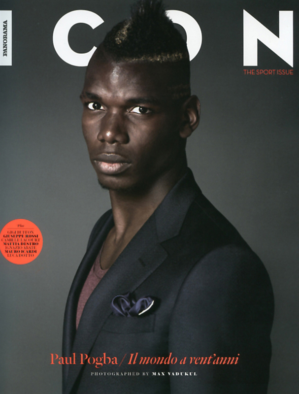Icon - magazine - Paul Pogba - cover - Hair stylist Stefano Gatti