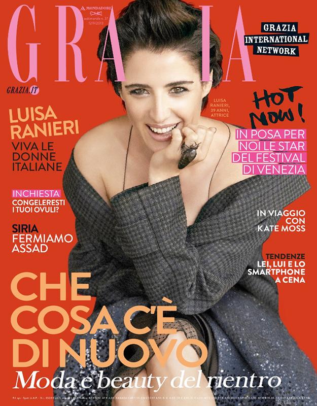 Grazia - cover - Luisa Ranieri - Hair stylist Stefano Gatti