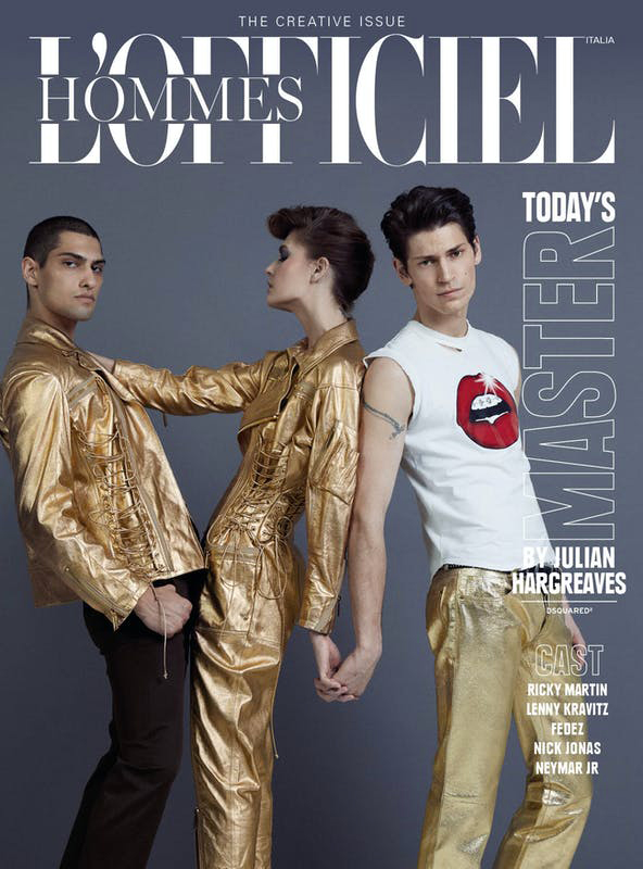 L'Officiel Italia - magazine - Photographer Julian Hargreaves - Stylist Giulio Martinelli - Make Up Riccardo Morandin