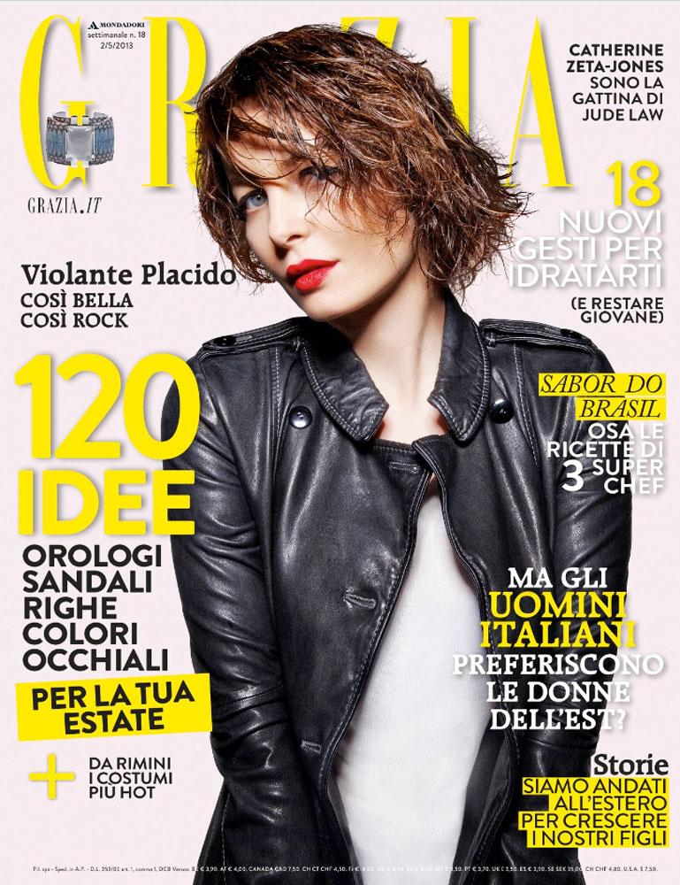 Grazia - cover - Violante Placido - Hair stylist Stefano Gatti