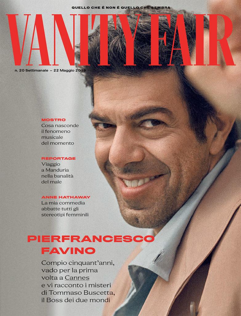 Vanity Fair - cover - Pierfrancesco Favino - Hair stylist Stefano Gatti