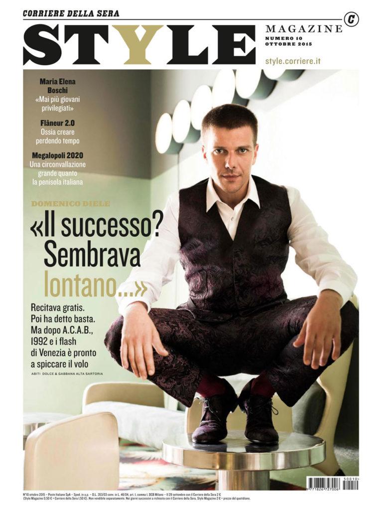 Style magazine - cover - Domenico Diele - Hair stylist Stefano Gatti