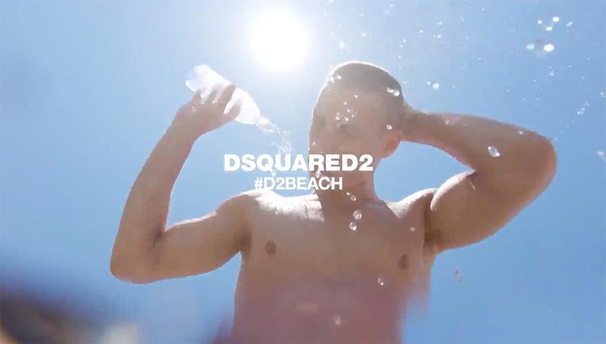 Dsquared2 Swimwear Mykonos SS18 - hair daniel manzini