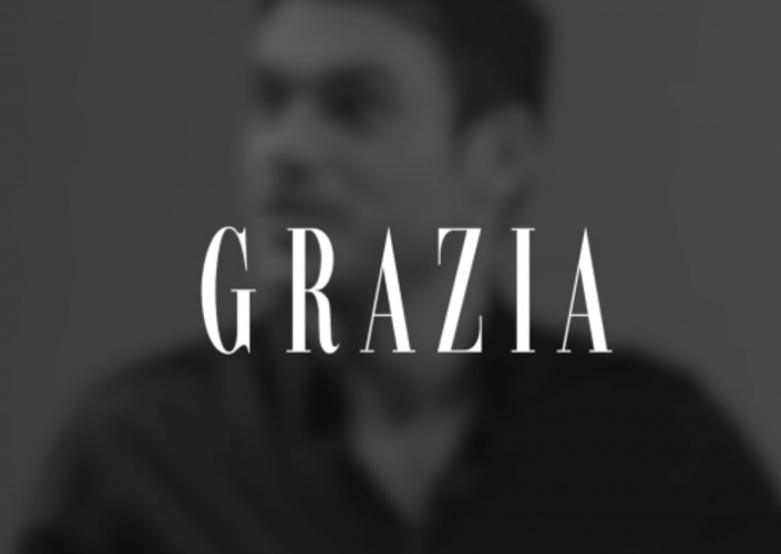 Backstage video for Grazia during the shooting by Julian Hargreaves with Richard Madden in exclusive for Armani - Styling by Ildo Damiano
