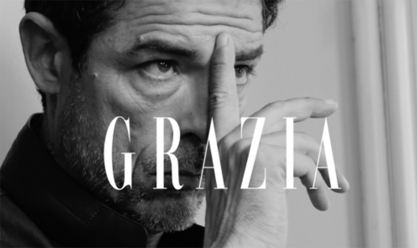 Backstage video for Grazia during the shooting by Giampaolo Vimercati with Alessandro Gassmann - Styling by Ildo Damiano