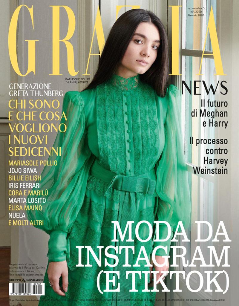Grazia - cover - Mariasole Pollio - Hair stylist Stefano Gatti