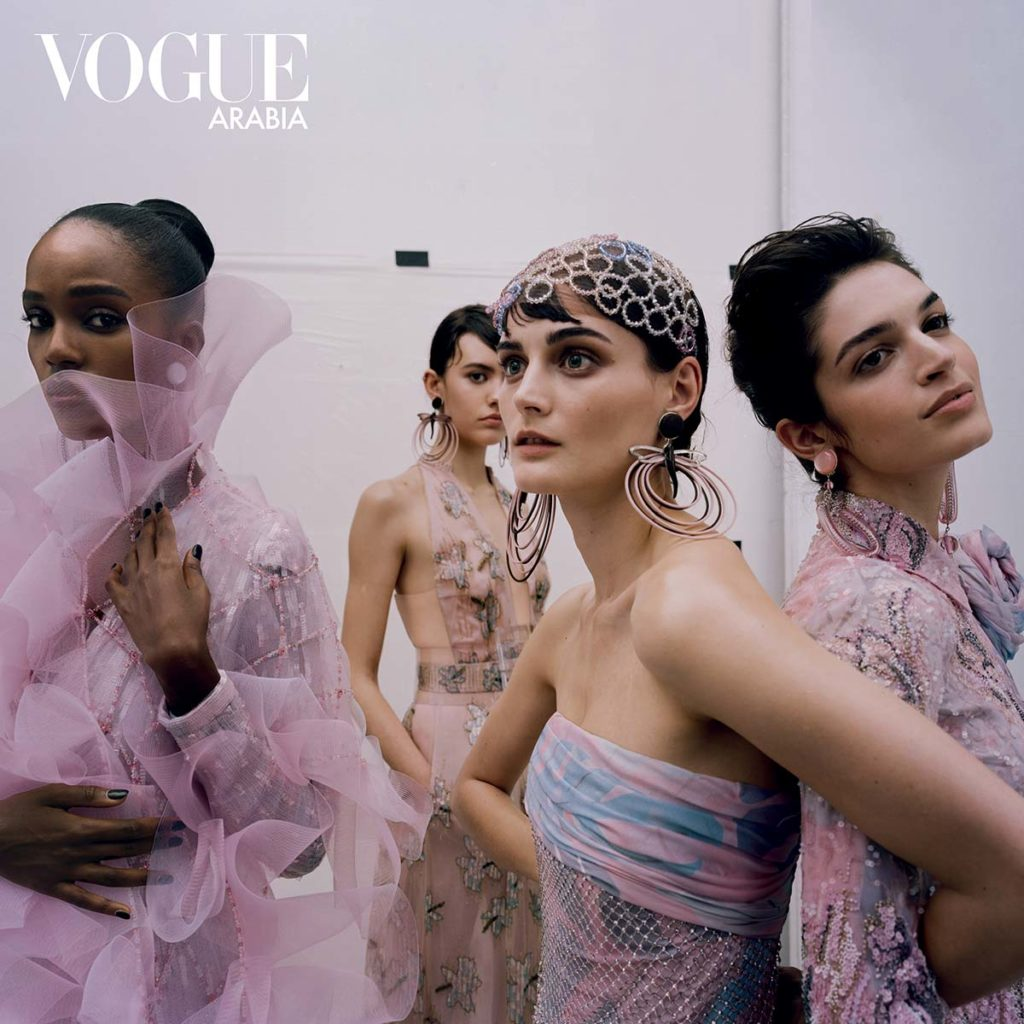 Vogue Arabia - Armani special - make-up Karin Borromeo - Hair Davide Diodovich - Manicure Carlotta Saettone - photographer Paolo Zambaldi