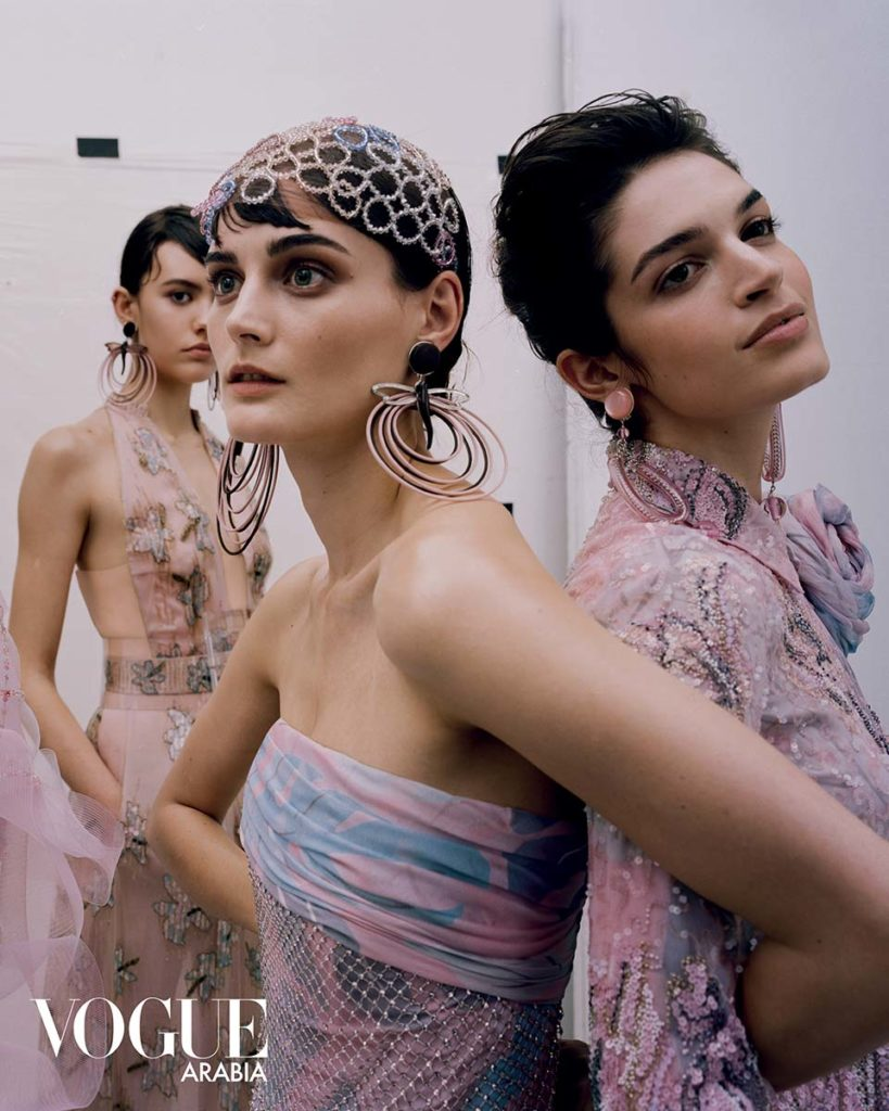 Vogue Arabia - Armani special - make-up Karin Borromeo - Hair Davide Diodovich - Manicure Carlotta Saettone - photographer Paolo Zambaldi