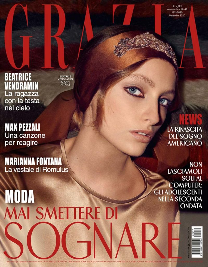 Grazia - magazine - Beatrice Vendramin - photographer Simone Falcetta - styling Ramona Tabita - make-up Sissy Belloglio