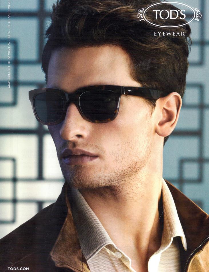 Tod's Eyewear - model Rom Warren - photographer Glen Luchford - make-up Giulio Panciera - WM-Artist Management