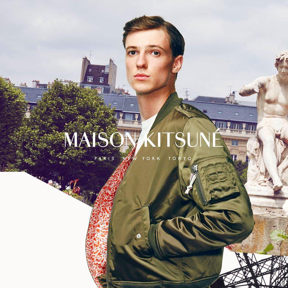 Maison Kitsuné - ss15 - model Tommaso de Benedictis - photographer Paul Bliss - make-up Giulio Panciera - WM-Artist Management